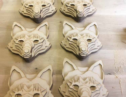 Laser_cutting-3D_fox_heads