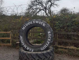 Signmaker-Tractor_tyre_with_letter_cut